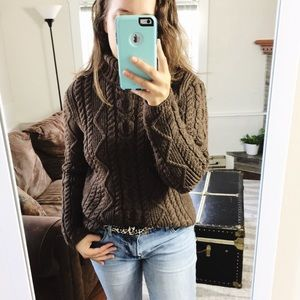 Vintage Paul James English Wool Cable Knit Sweater